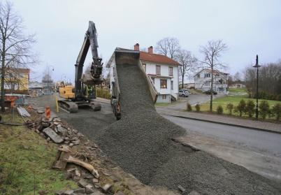 14 november 2019 - Arbetet med nya vattenledningen var klart och diket kunde fyllas igen.