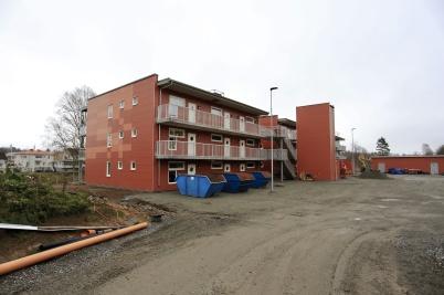 15 november 2019 - Hyreshusen på Solängen började bli klara utvändigt.