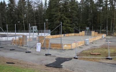 17 november 2019 - Vid skolan byggdes en ny anläggning för olika sporter.