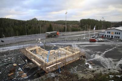 5 december 2019 - Arbetet med KGH:s speditionsbyggnad fortskred.