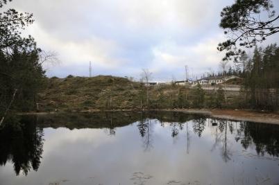 5 december 2019 - Skog avverkades intill E18 på svenska sidan gränsen.