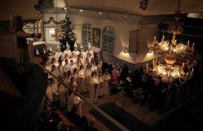 13 december 2019 - Och så var det Luciafirande i Töcksmarks kyrka.