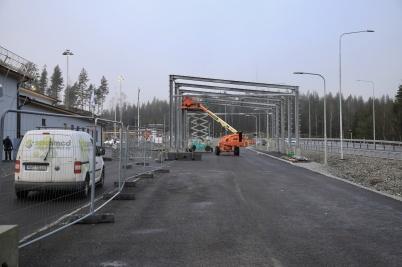 18 december 2019 - Vid gränsen fortsatte bygget av tullens kontrollplats.