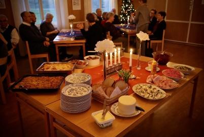 22 december 2019 - Töcksmarks församling ordnade Jul i gemenskap med gudstjänst i kyrkan och julbord i församlingshemmet.