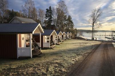 26 december 2019 - Töcksfors camping låg i vintervila.