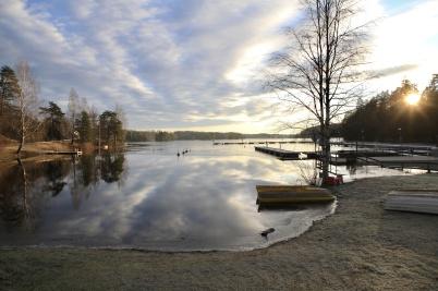 26 december 2019 - Sjön Foxen var välfylld med vatten.