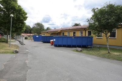 18 juni 2018 - Arbetet startade med inre rivning i den del av skolan som många minns som skolans barnbespisning.