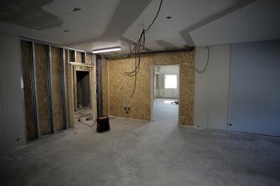 18 september 2018 - Det byggs nya skolsalar och grupparbetsrum.