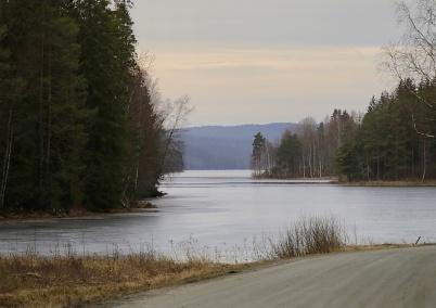 1 januari 2020 - Sjön Töck var i det närmaste isfri.
