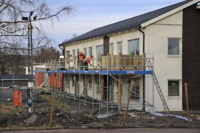 9 januari 2020 - Arbetet med nya hyreshuset vid slussen fortskred.