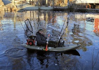 19 januari 2020 - Det gick fint att åka på fisketur i kanalen.