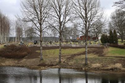 26 januari 2020 - På kyrkogården färdig-ställdes nya askgravplatsen.