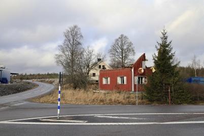 1 februari 2020 - De gamla husen vid Handelsparken revs.