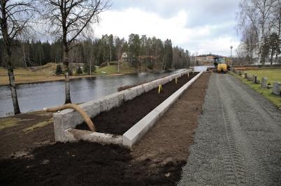 1 februari 2020 - På kyrkogården färdig-ställdes nya askgravplatsen.