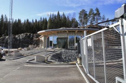 11 mars 2020 - Arbetet med bygget av KGH:s servicebyggnad vid nya tullstationen fortskred . . .