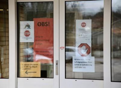 17 mars 2020 - Töcksforspraktiken införde stränga rutiner vid besök på vårdcentralen, p g a coronasmittan.