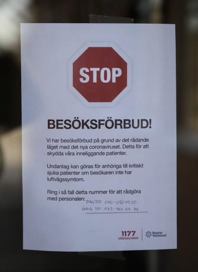 4 april 2020 - På Solgården var det besöksförbud, för att skydda de äldre.