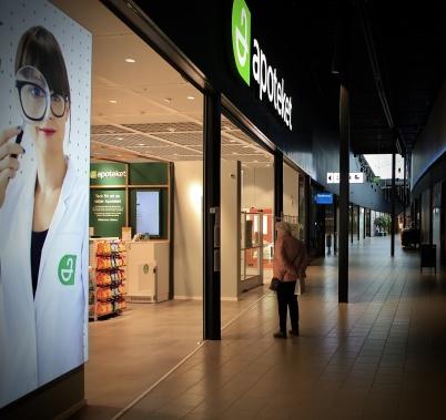 5 april 2020 - Det var ödsligt i Töcksfors shoppingcenter.