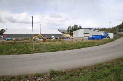 4 maj 2020 - Och vid norbag hade mark-arbetet för utbyggnaden kommit igång.