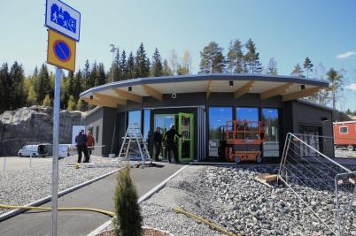 11 maj 2020 - KGH:s servicebyggnad vid nya tullstationen färdigställdes.