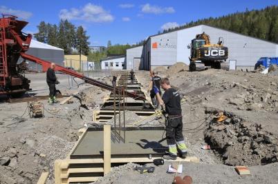 20 maj 2020 - Arbetet med utbyggnad av norbag fortskred.