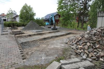 26 maj 2020 - Arbetet med att skapa nya Kiosparken kom igång.