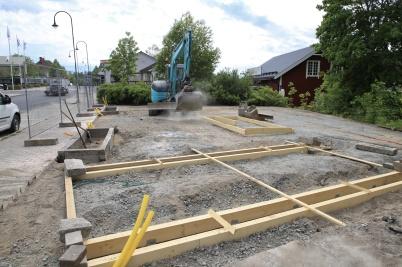 3 juni 2020 - Skapandet av Kioskparken gick framåt.
