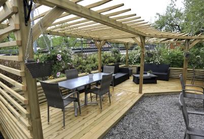 6 juni 2020 - Waterside kunde ta emot gäster coronasäkert i trädgården.