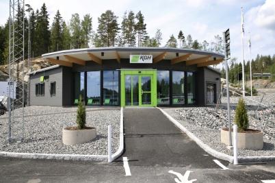 10 juni 2020 - KGH:s servicebyggnad vid nya tullstationen var klar att tas i bruk.
