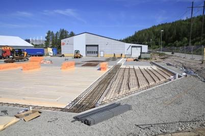 11 juni 2020 - Arbetet med utbyggnad av norbag fortskred.