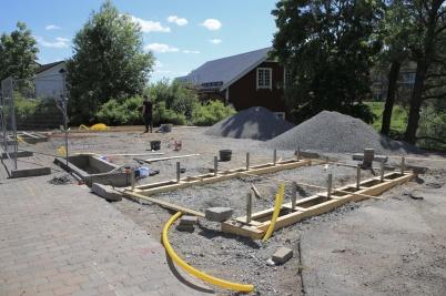 12 juni 2020 - Arbetet med nya Kioskparken fortskred.