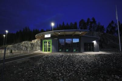 23 juni 2020 - Även KGH:s service-byggnad stod redo.