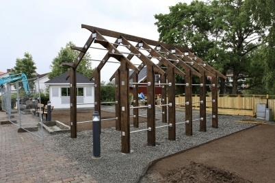 30 juni 2020 - Kioskparken började ta form.