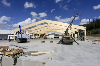 20 augusti 2020 - Arbetet med utbyggnaden av Norbag fortskred.