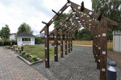 22 augusti 2020 - Nya Kioskparken var nästan klar, det fattades några träd och planteringar.