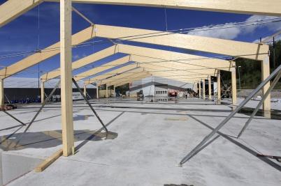 24 augusti 2020 - Och arbetet med utbyggnaden av Norbag fortskred.