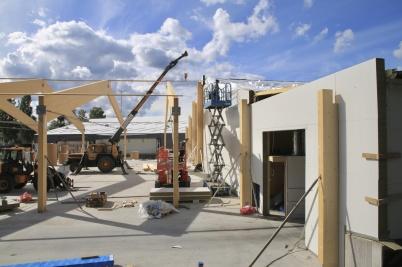 28 augusti 2020 - Arbetet med utbyggnaden av Norbag gick framåt.