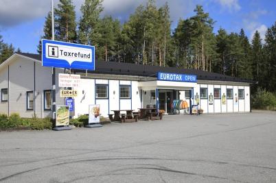 5 september 2020 - EUROTAX vid gränsen hade öppet, men det var glest med kunder.
