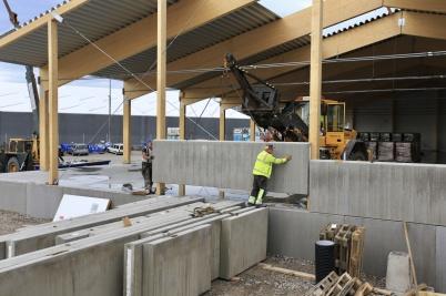8 september 2020 - Arbetet med utbyggnaden av Norbag fortskred.
