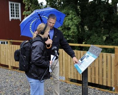 9 september 2020 - Samhällsbyggnads-chefen Peter Månsson guidade massmedia i samband med invigningen av Kioskparken.