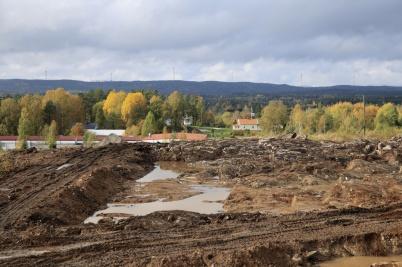 7 oktober 2020 - Schaktningen för nya industrivägen kom allt längre västerut.
