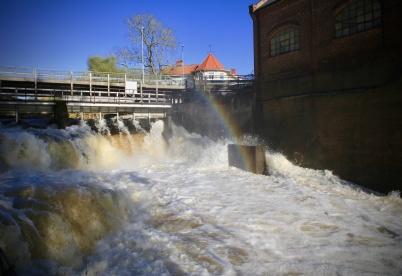 12 oktober 2020 - Höstfloden var kraftig efter allt regnande.