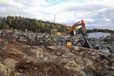 14 oktober 2020 - Det var rena berg- och dalbanan vid nya industrivägen.