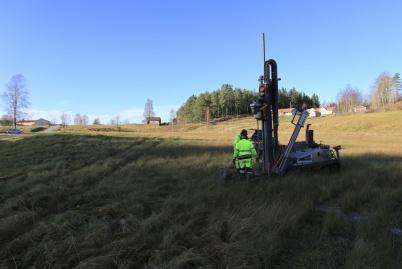 3 november 2020 - Vid Kallnäset gjordes markundersökningar inför bygget av nya förskolan.
