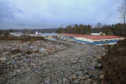 16 november 2020 - Bygget av nya industrivägen hade nått fram till Skärmons industriområde.