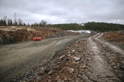 24 november 2020 - Nya industrivägen började se ut som en väg.