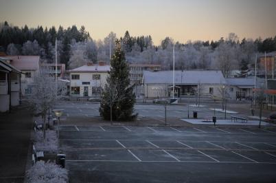 28 november 2020 - Töcksfors fick frostigt väder, en stämningshöjare inför första advent.