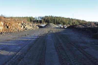 1 december 2020 - Och vid Källhultet / Skärmon byggde man ny industriväg.