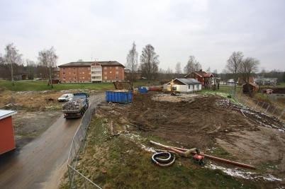 4 december 2020 - Återstående parhus på Solängen försvann i snabb takt.