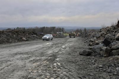 10 december 2020 - Nya industrivägen bredde ut sig.